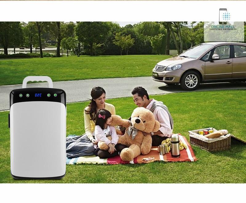Tủ lạnh mini ô tô 12v/220v Dual-Fan LCD CWF-12L hiển thị nhiệt độ (-2 đến 60 độ C) - Online Mall
