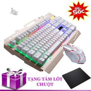 Combo bàn phím và chuột có đèn LED giả cơ G700 tặng tấm lót chuột thumbnail