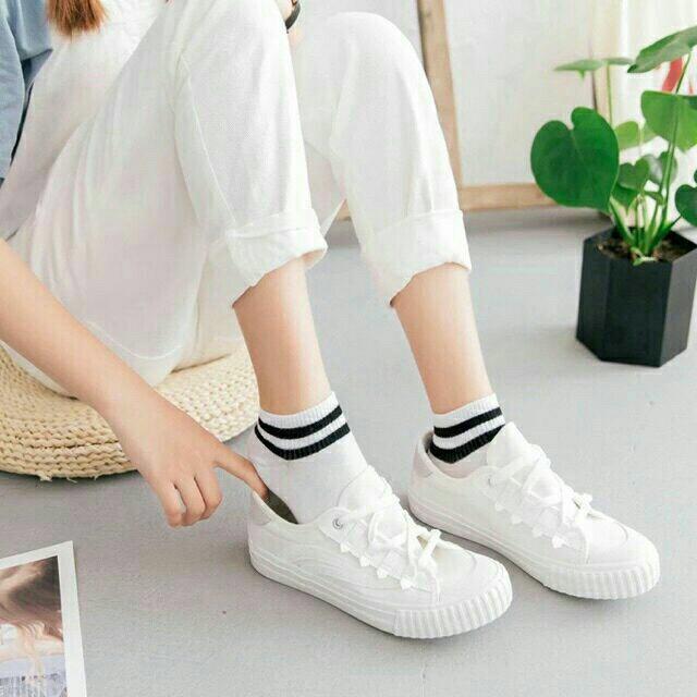 Combo 5 đôi Tất nữ Hàn Quốc kẻ sọc