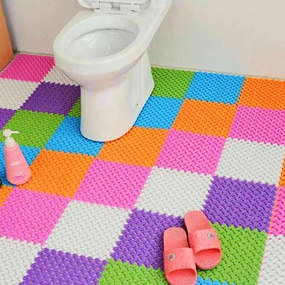 Compo 10 tấm thảm nhựa ghép màu sắc