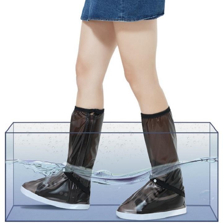 Bao bảo vệ giày đi mưa, thời trang, chống trơn trượt, siêu bền - Mầu Nâu - Size S