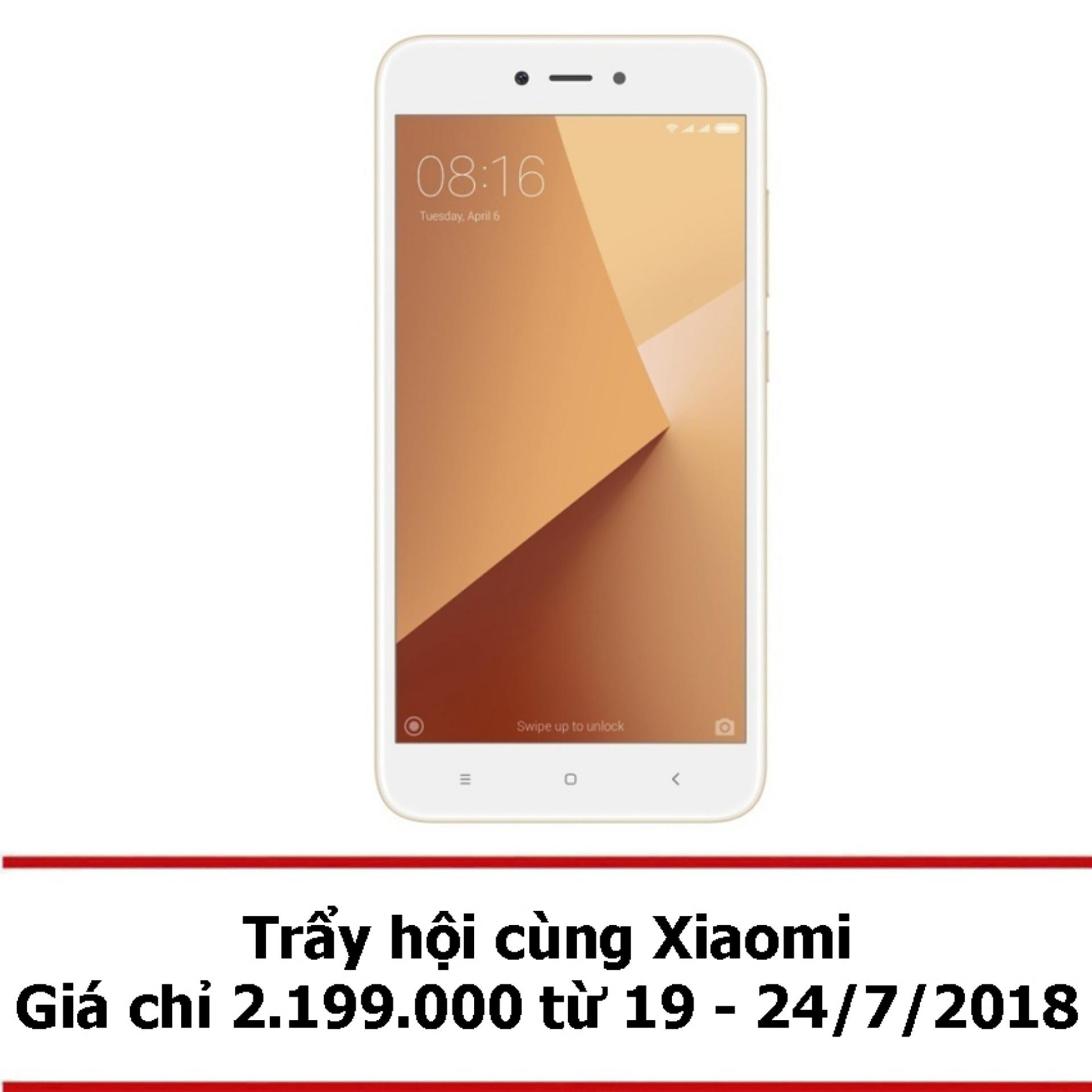 Xiaomi Redmi Note 5A 16GB 2GB (Vàng) - Hãng phân phối chính thức