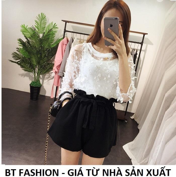 Quần Sọt Đùi Nữ Giả Váy Thời Trang Hàn Quốc Mới - BT Fashion (VA02-Nơ Nhúng)