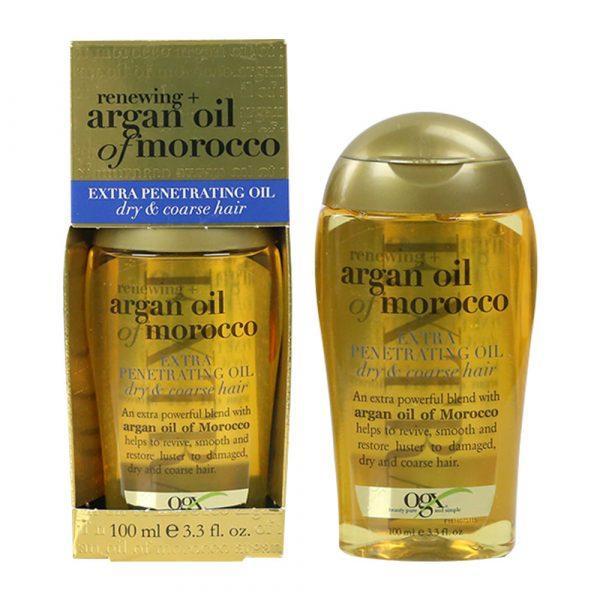 Tinh dầu dưỡng tóc OGX Renewing Argan Oil Of Morocco Extra Penetrating Oil Dry & Coarse hair 100ml