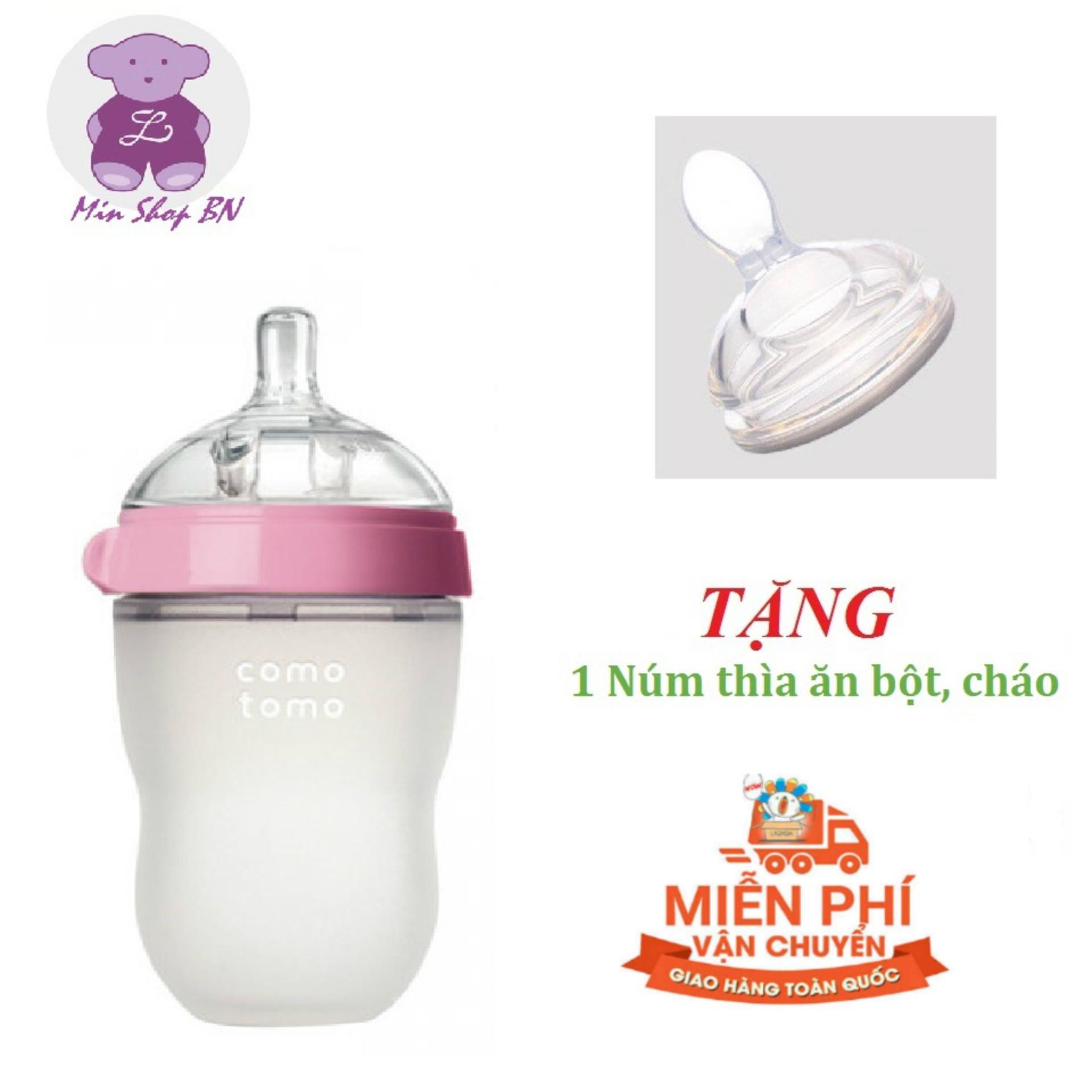 Bình sữa Silicon cao cấp Comotomo cho bé 250ml kèm...