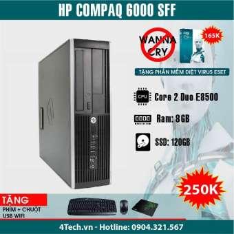 Máy tính đông bộ HP Compaq 6000 Intel E8500, 8GB RAM, 120GB SSD + tặng 1 bộ bàn phím, chuột, bàn di.