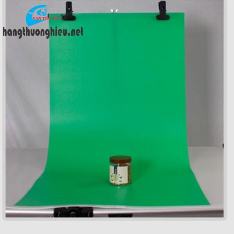 Phông nền chụp ảnh sản phẩm - nhựa PVC xanh lá (1m x 1m)