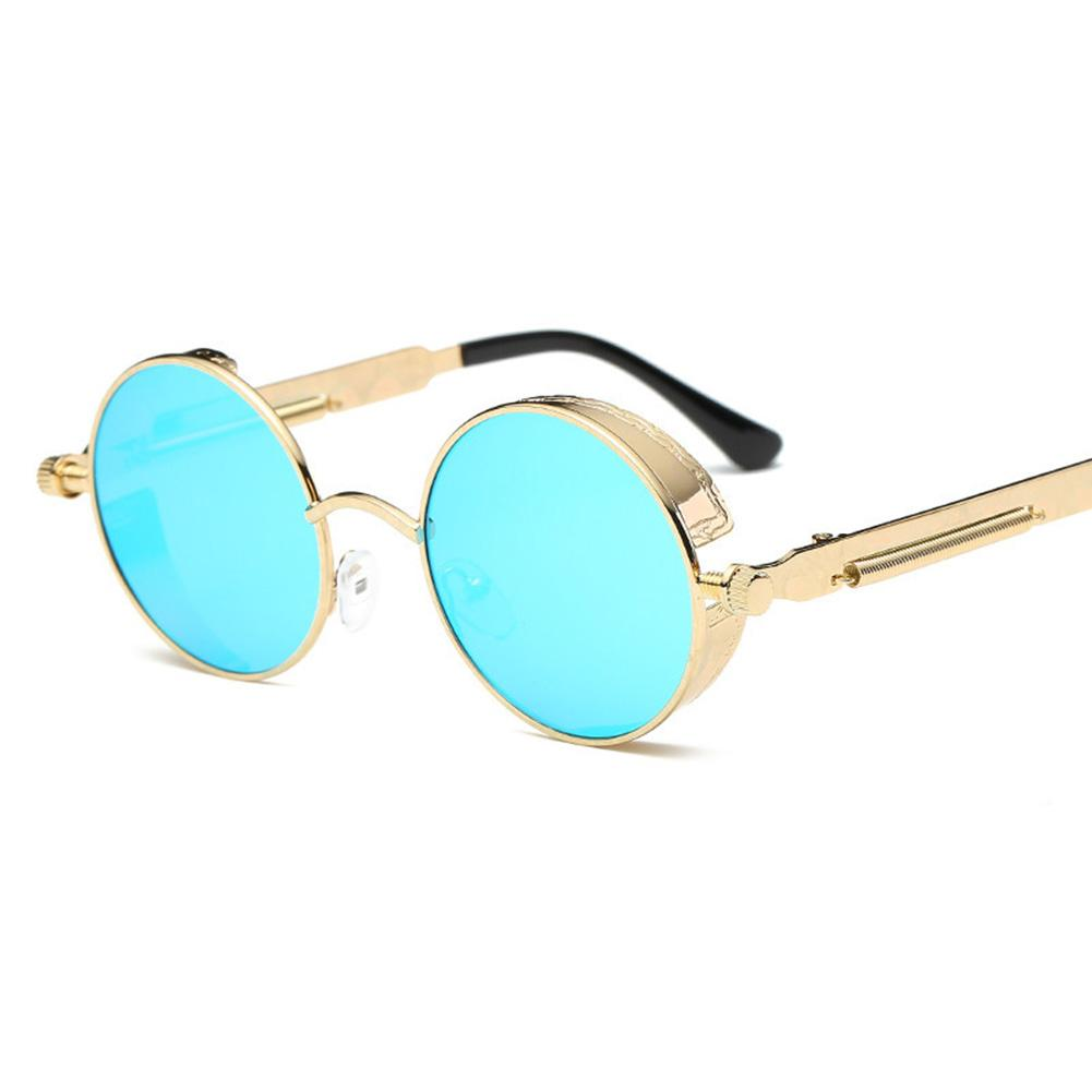 FS Big Sale Stylish Metal Round Frame Sunglasses with Spring Legs for Street Snap Birthday Gift   Lenses