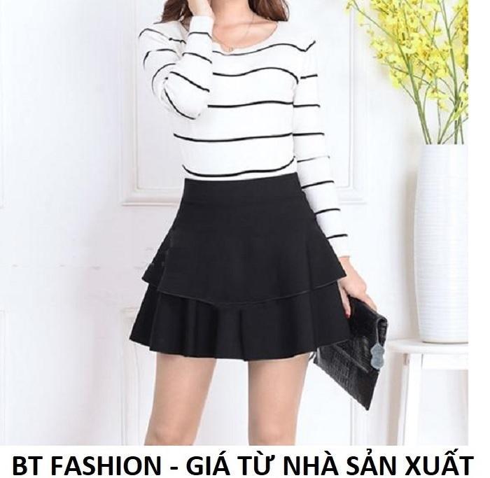 Chân Váy Xòe Lưng Thun Duyên Dáng Thời Trang Hàn Quốc - BT Fashion (VA02E)