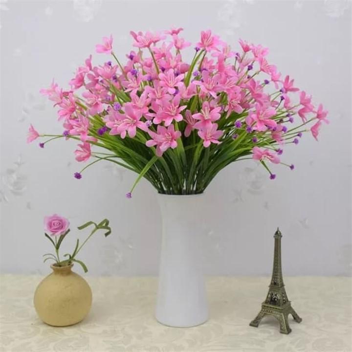 Hoa thủy tiên siêu xinh HTT-35 (1 cành 24-28 bông hoa) - Hoa giả- hoa lụa cao cấp - Hoa để bàn - Hoa để văn phòng