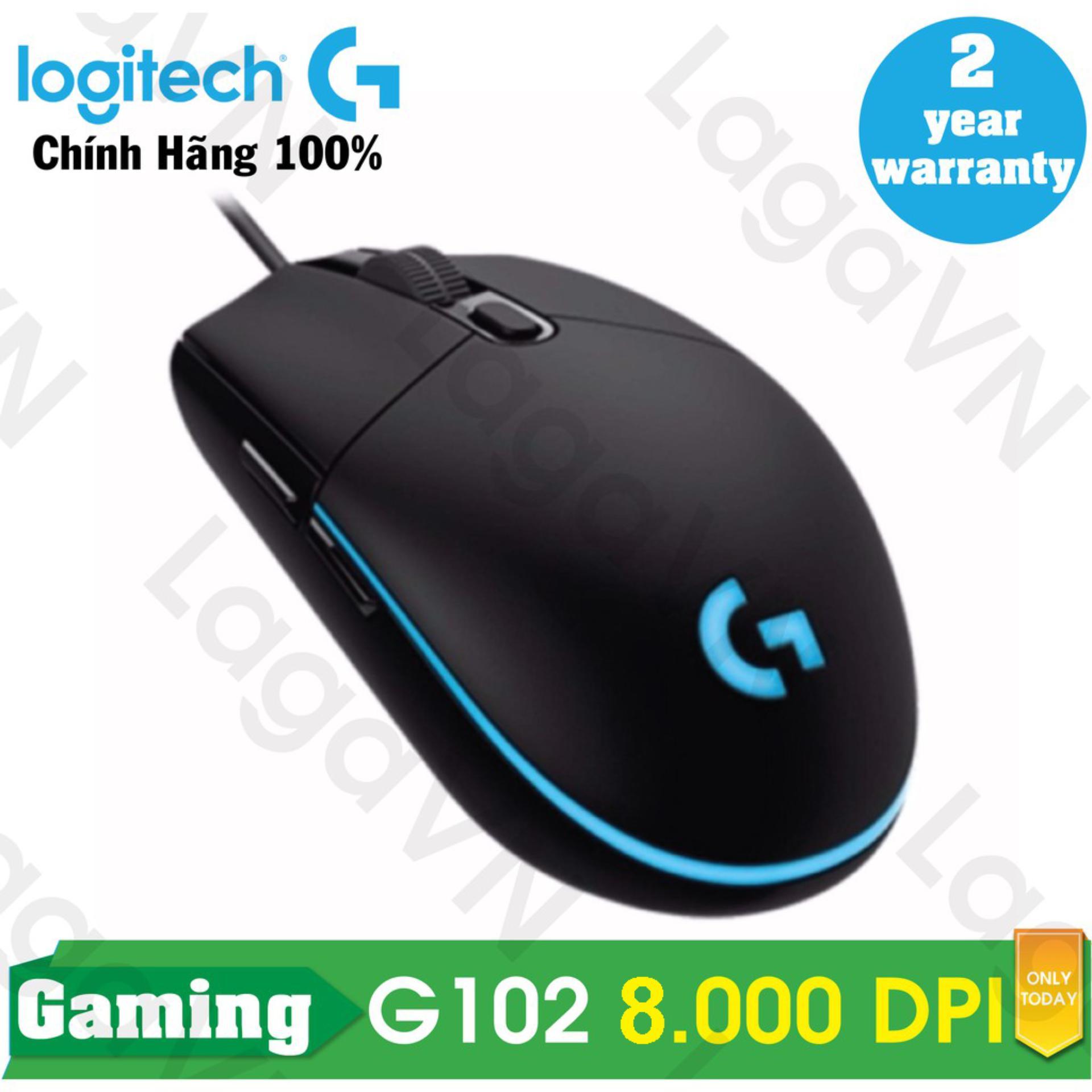 Chuột game Logitech G102 Prodigy RGB LED (Đen) - Hãng phân phối chính thức