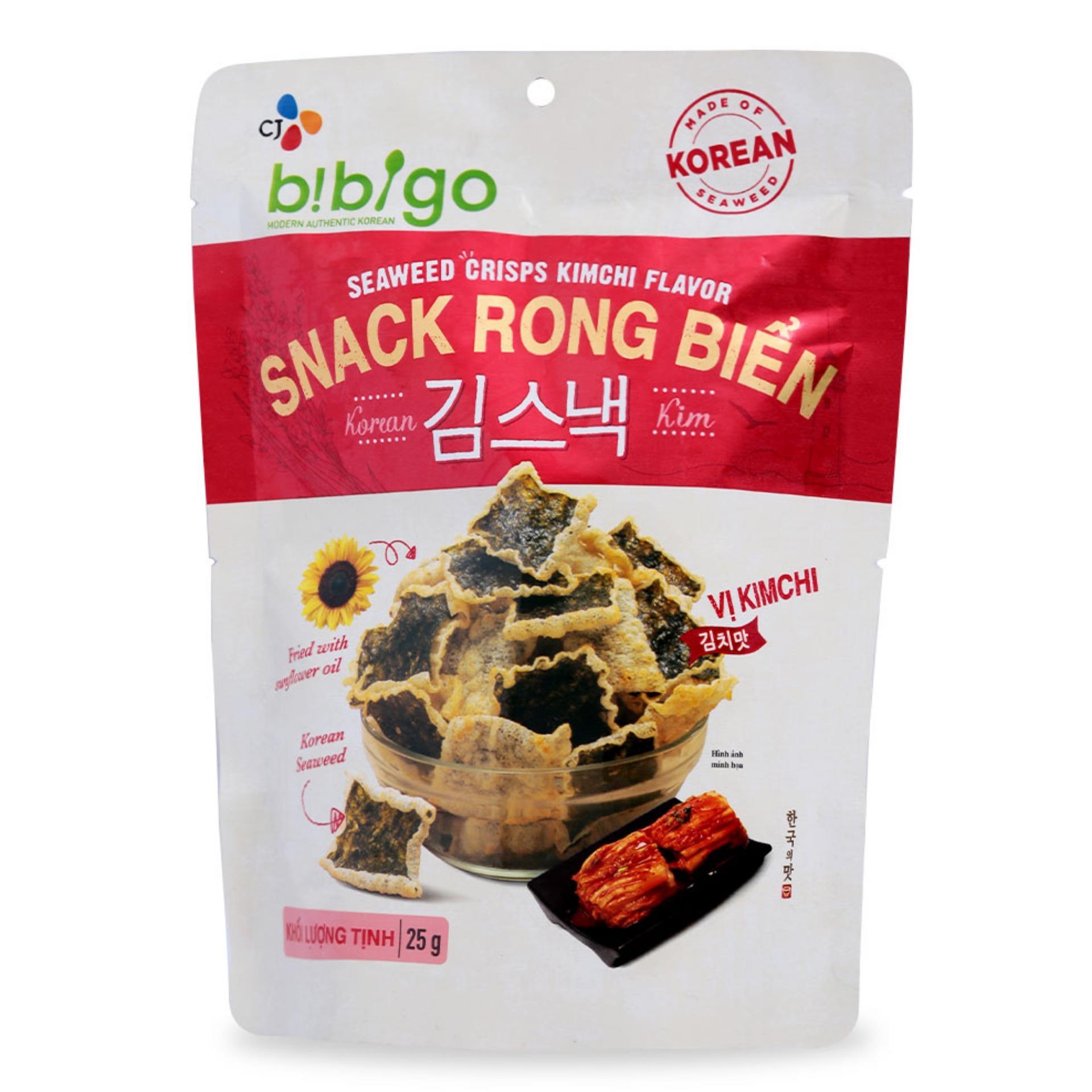 Snack Rong Biển Vị Kim Chi Bibigo Gói 25 G
