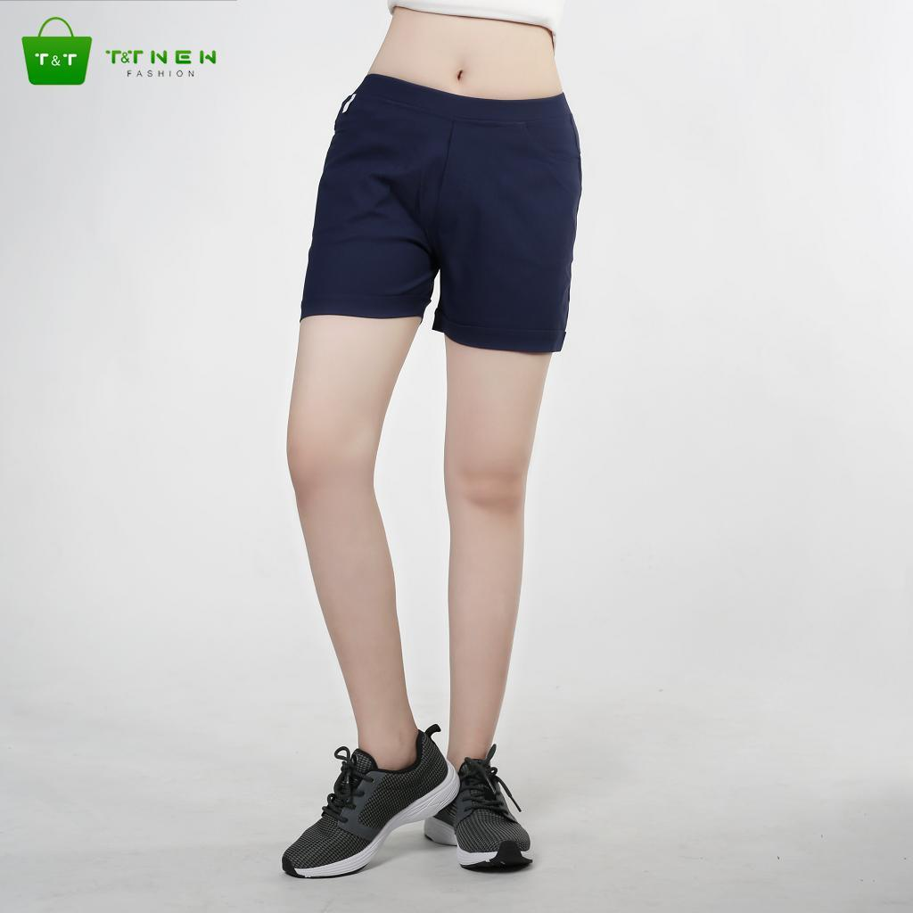Quần short kaki nữ co giản cao cấp phong cách hàn quốc