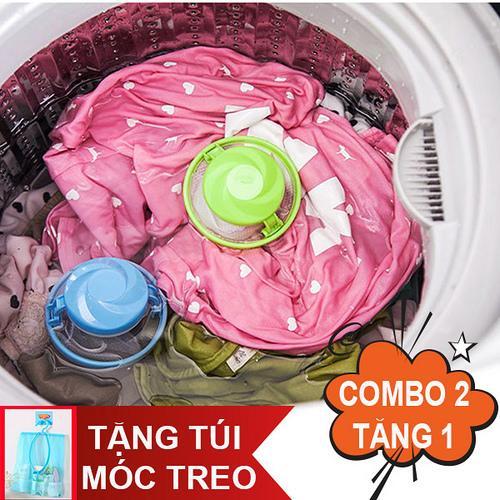 Combo 2 phao lọc rác bẩn máy giặt. Tặng túi lưới có móc treo tiện dụng