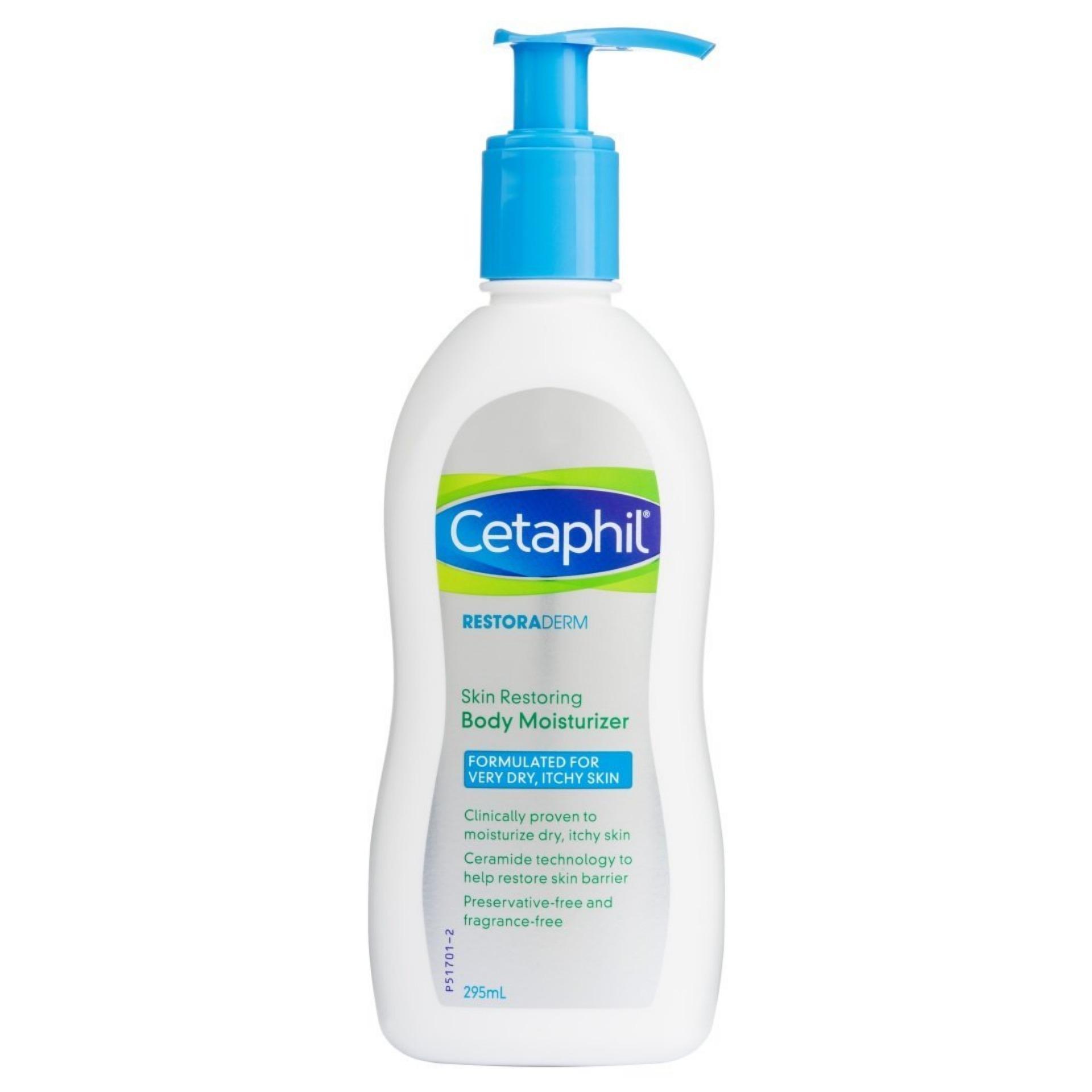 Sữa dưỡng ẩm toàn thân dành cho da khô, ngứa - Restoraderm Skin Restoring Body Moisturizer - 295ml - Cetaphil
