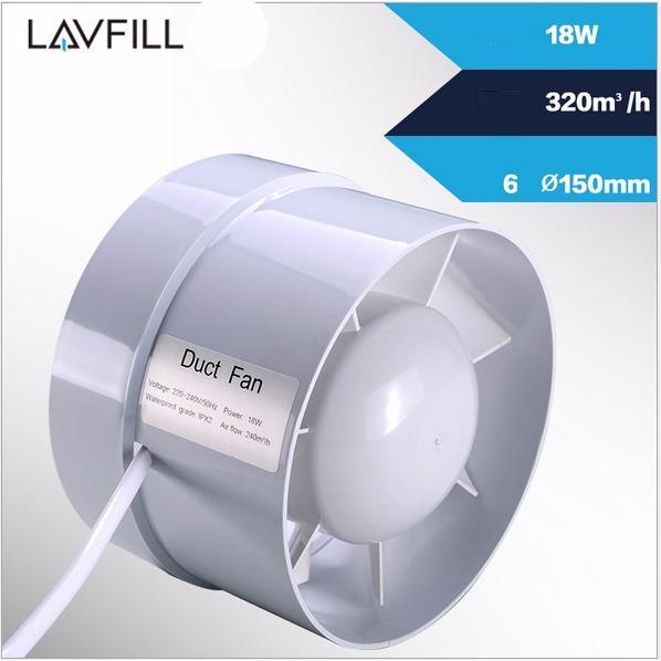 Quạt thông gió lắp đặt đường ống kích thước phi 150 với quạt 6inch