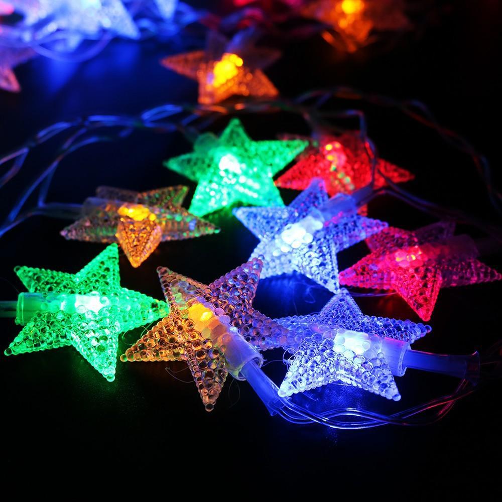 Dây đèn trang trí noel, sân vườn, quán ăn, trang trí lấp lánh, đèn sao băng, đèn chớp, đèn sao, giá rẻ chất lượng
