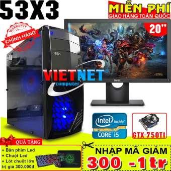 máy tính game 53x3 3470 gtx 750ti 8gb 500gb có lcd dell 20inch