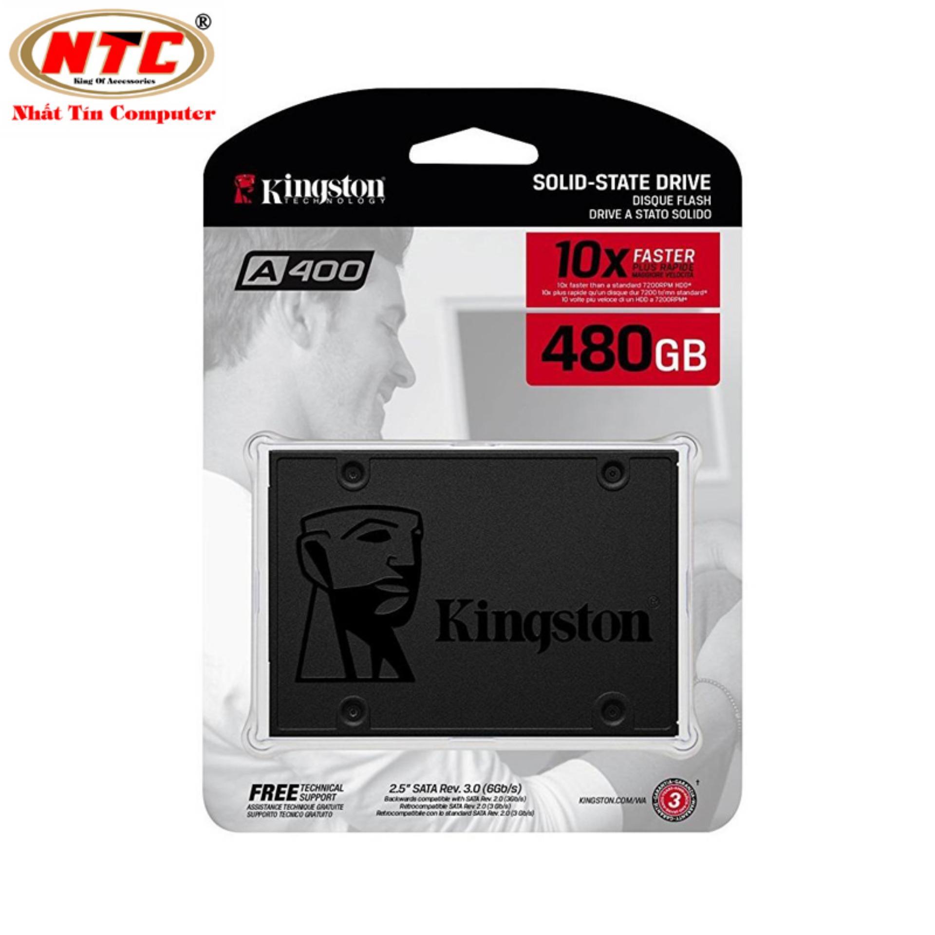 Ổ cứng SSD Kingston A400 SATA 3 480GB SA400S37/480G (Xám đen)