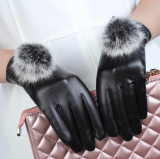 Găng tay da nữ-bao tay da nữ lót lông cảm ứng điện thoại cao cấp,thời trang-BTD01 thumbnail