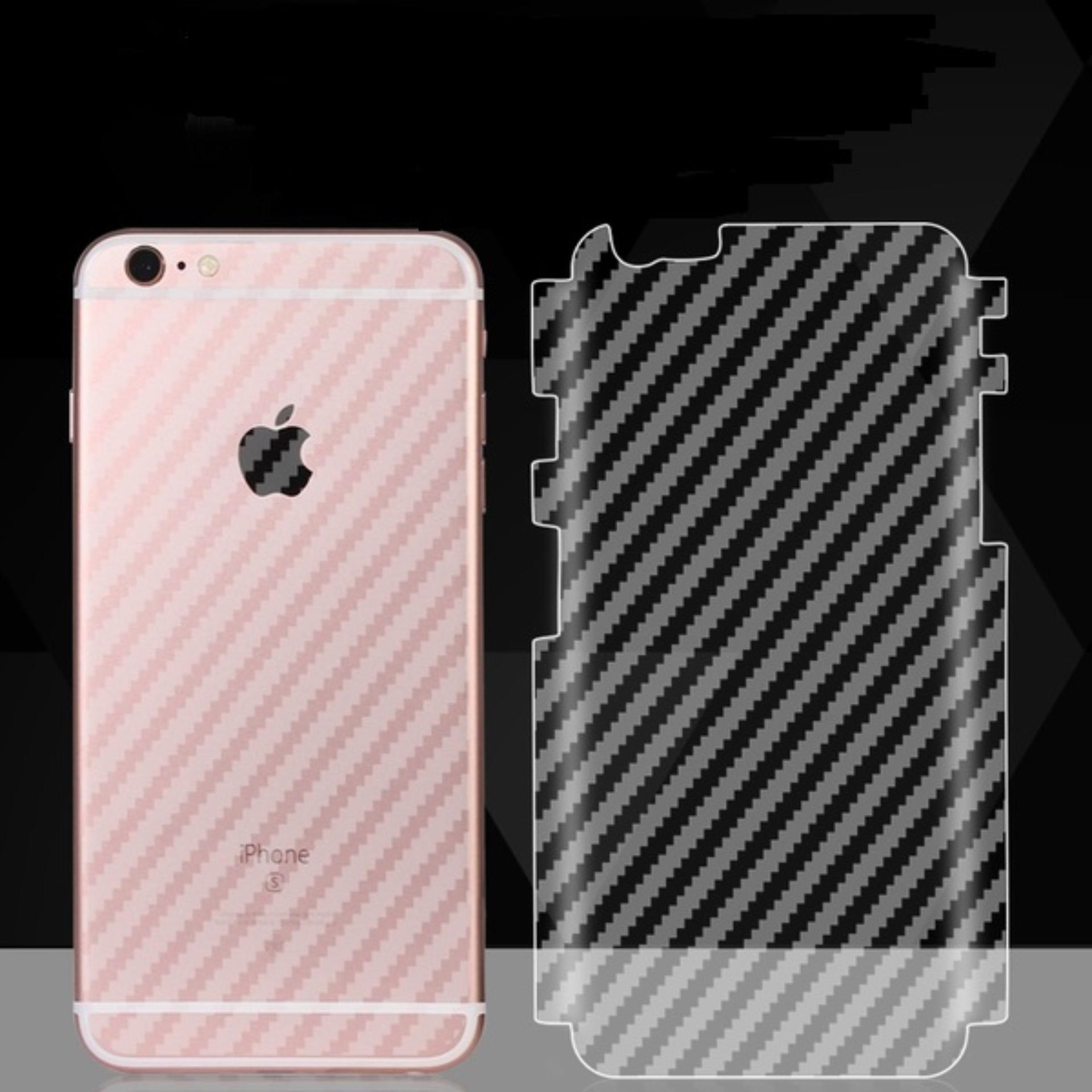 Miếng dán mặt sau vân Carbon cho Iphone 6 Plus/6S Plus - Trong suốt