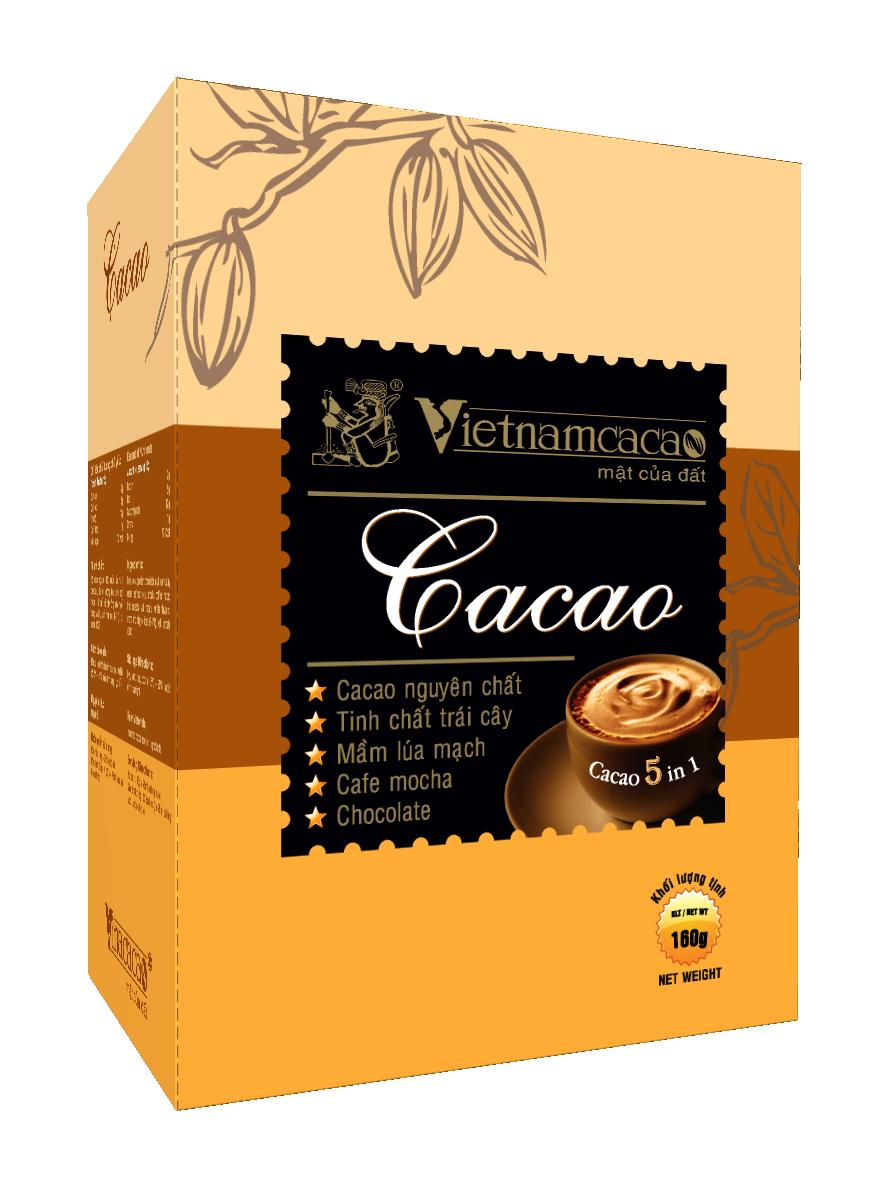 Bột cacao 5 in 1 - Vinacacao 160g