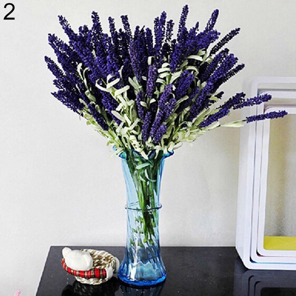 Cành hoa Lavender gồm 12 bông trang trí siêu đẹp - Hoa để bàn - Hoa văn phòng- Hoa trang trí tiệc