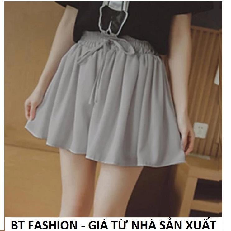 Quần Sọt Đùi Nữ Giả Váy Thời Trang Hàn Quốc Mới - BT Fashion (VA03-VOAN)