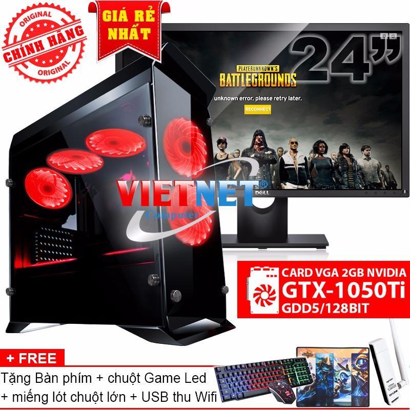 Bộ máy chiến game i5 4460 card GTX-1050Ti RAM 16GB 1TB LCD Dell 24 inch (chính hãng VietNet)