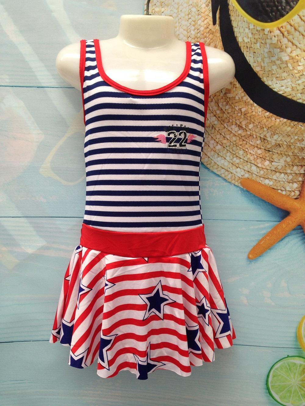 Váy bơi liền thân cho bé gái 4-8 tuổi