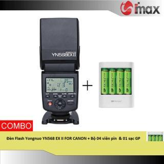 [Trả góp 0%] Đèn Flash Yongnuo YN568 EX II FOR CANON + Bộ 04 viên pin & 01 sạc GP ( Japan) thumbnail