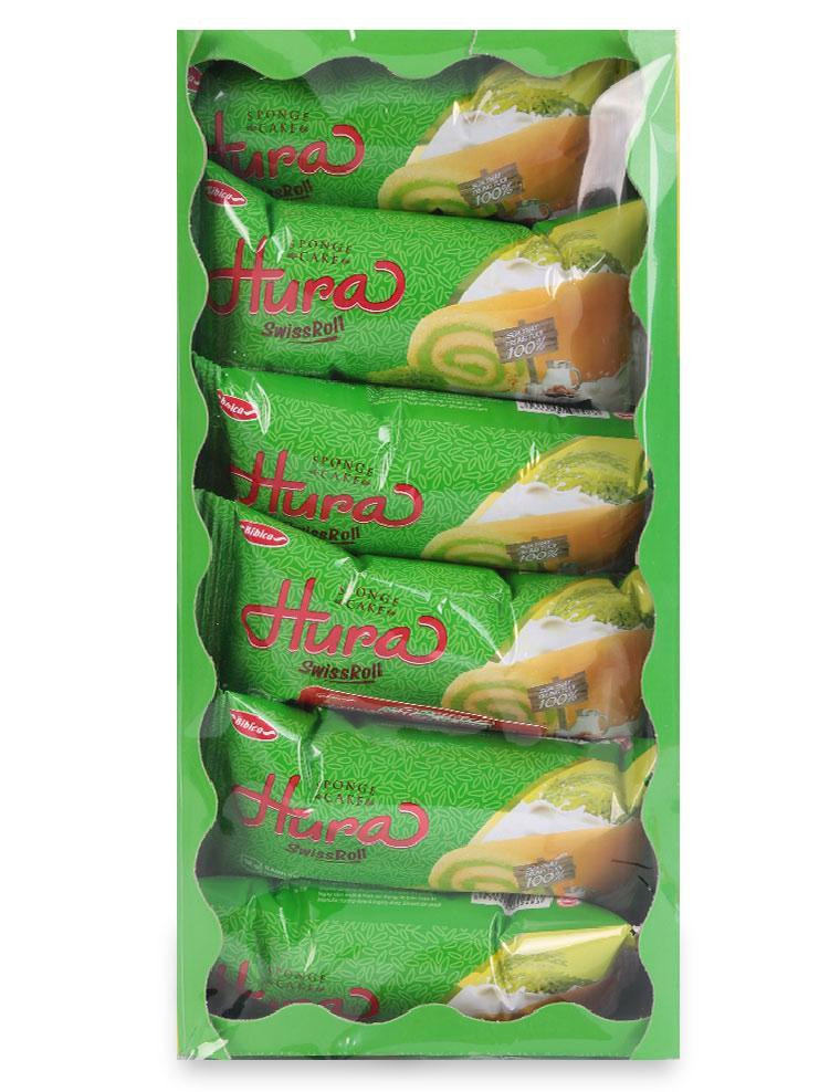 Bánh Trứng Cuộn Hura Kem Hương Cốm - Hộp 180 G