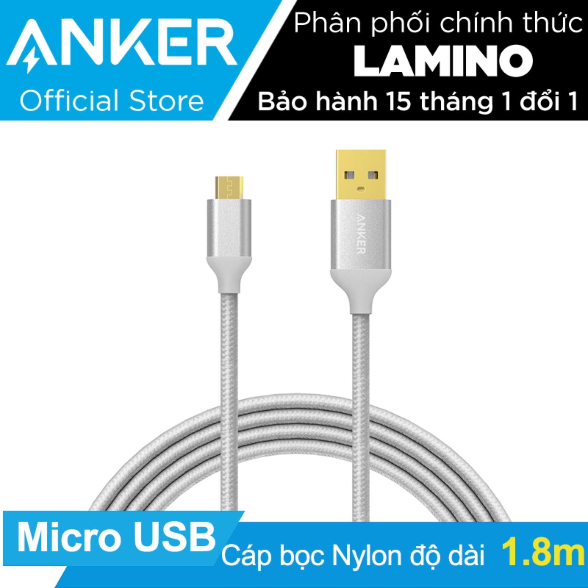 Cáp Sạc Micro Usb Anker Bọc Nylon Dài 1.8M