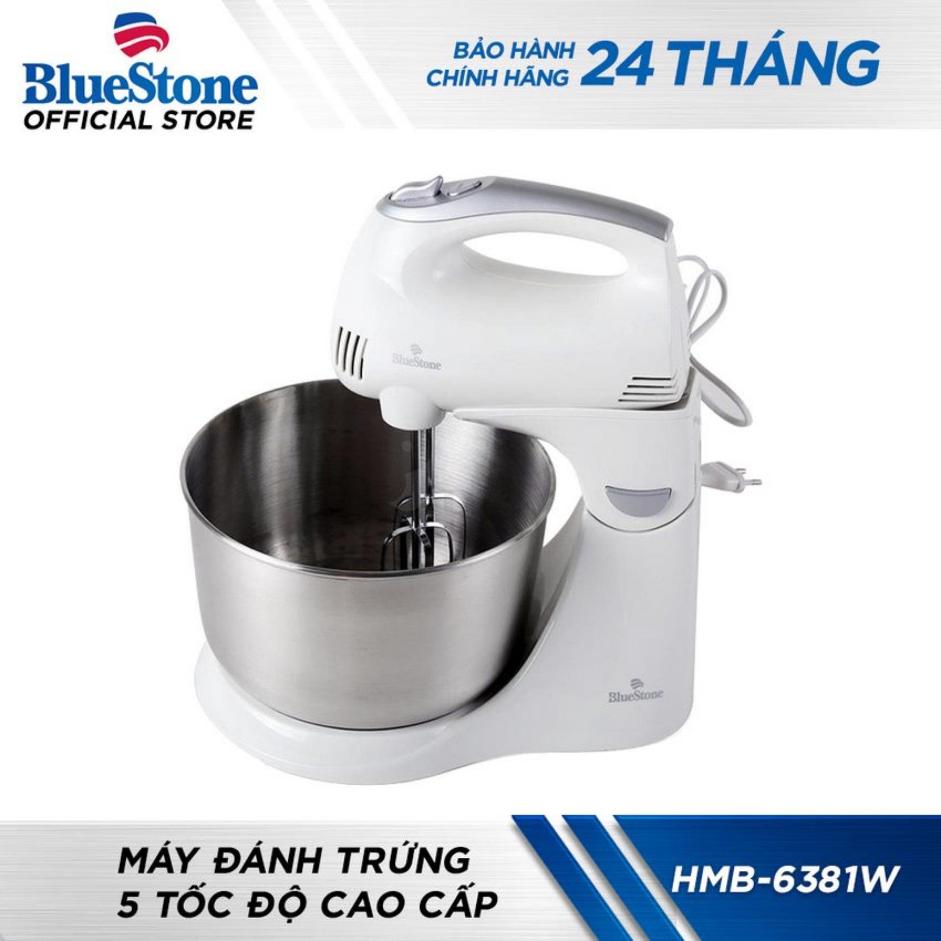 Máy Đánh Trứng 5 Tốc Độ Cao Cấp Bluestone HMB6381W (Trắng)