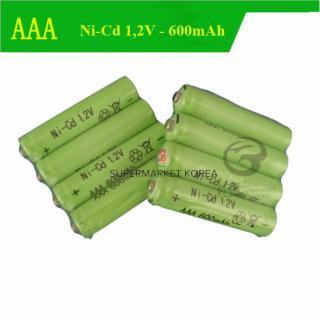 Vỉ 04 viên pin đũa sạc lại, pin AAA 600mAh - 1,2V Ni-cd thumbnail