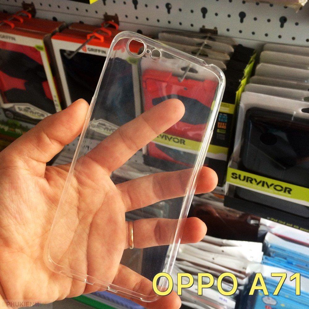 Ốp dẻo trong không màu giá rẻ cho Oppo A71
