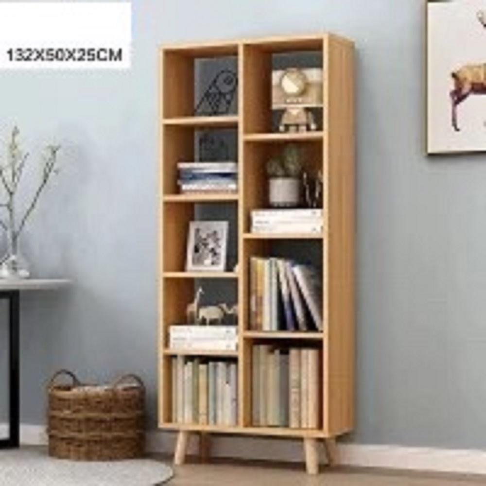 Kệ gỗ trang trí đựng đồ đa năng kích thước 132X50X25cm (vàng) - (BQ372-VANG)
