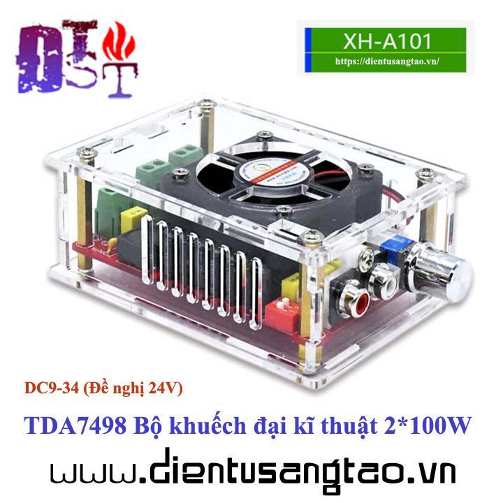 Mạch khuếch đại âm thanh TDA7498 200W Vỏ mica