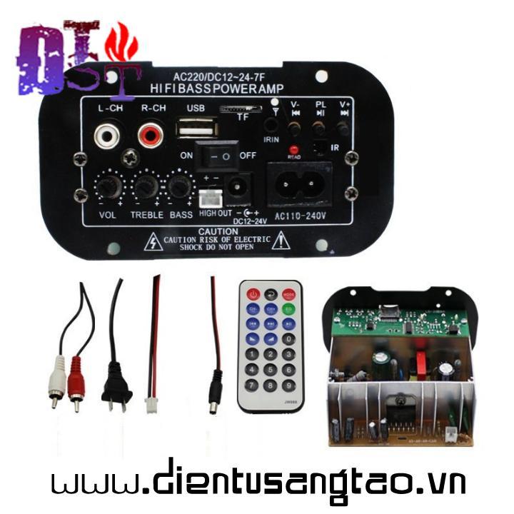 Mạch âm ly hifi bass power + bluetooth usb D00-119
