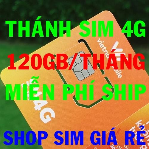 Thánh sim 4G Vietnamobile FREE 120Gb/tháng - MIỄN PHÍ SHIP - Shop Sim Giá Rẻ