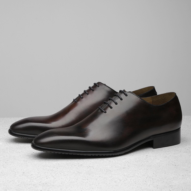 Giày Tây Nam Da Bò Thủ Công Cao Cấp ShoeX SATURN Oxford - Dark Brown