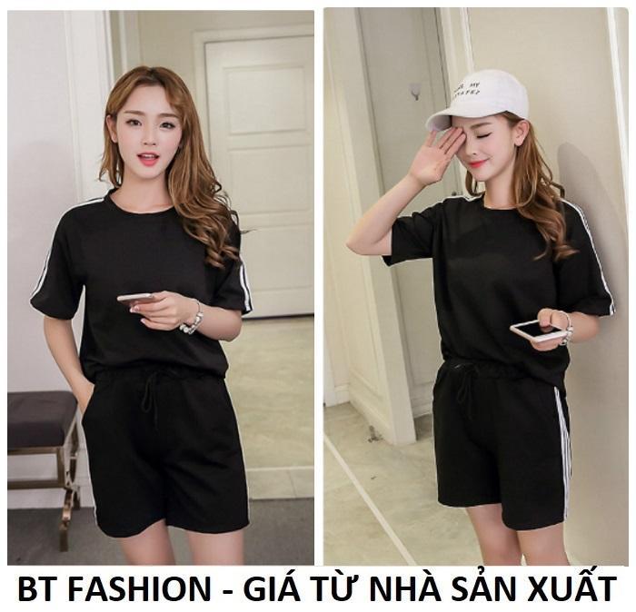 Đồ Bộ Áo Thun Nữ + Quần Đùi Sọt Thun Nữ Thể Thao, Ở Nhà, Đồ Ngủ Thời Trang Hàn Quốc Mới - BT Fashion (DN01A-3S)