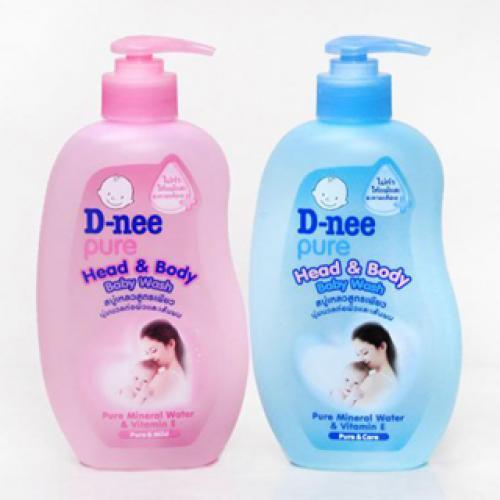 COMBO 2 Sữa tắm gội trẻ em Dnee 380ml (hồng)
