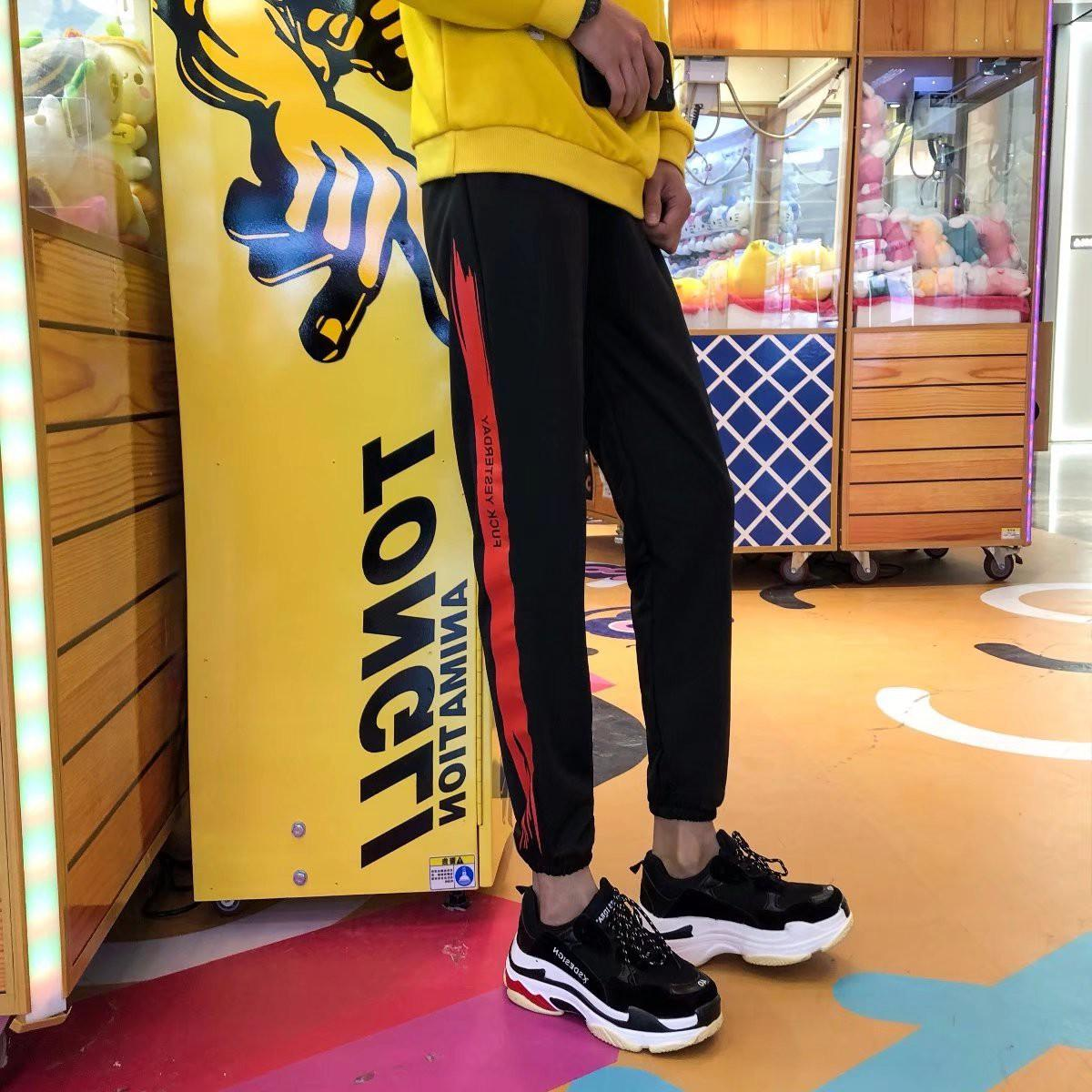 Quần Jogger Thun Nỉ Nam Phối Một Sọc Màu Sắc In Chữ Kiểu Dáng Thể Thao Yodi QUAN NAM 1000010V2 R