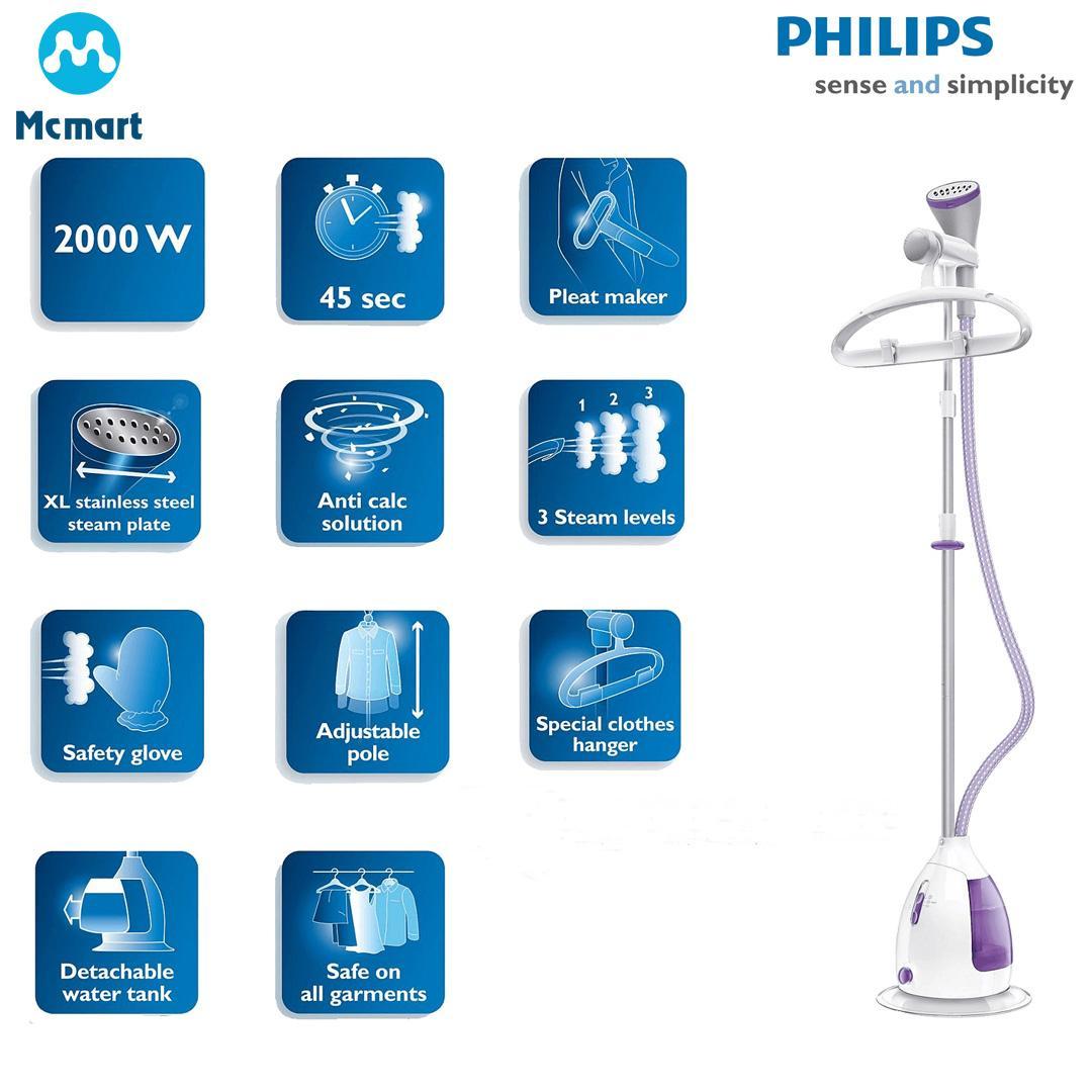 Bàn ủi hơi nước đứng Philips GC536 (Tím) - Hàng nhập khẩu