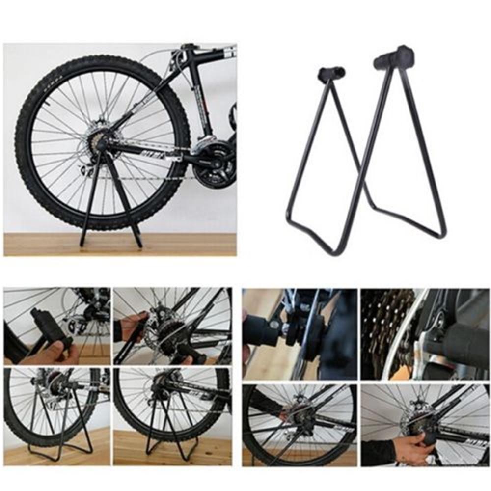 Bike Bicycle Wheel Holder Repair Stand Parking Hub Kickstand Folding Cycling
