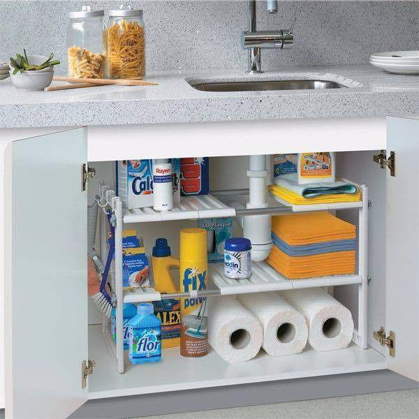 Kệ gầm bếp dạng xếp thông minh