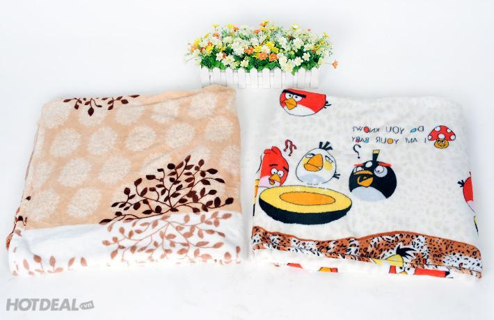 Chăn mền cho bé vải nhung - hàng VN loại dày (115x100cm)