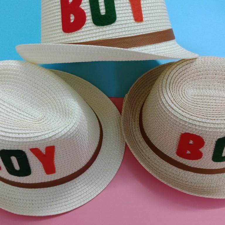 Mũ cói - Nón đi chơi, đi biển cho bé trai