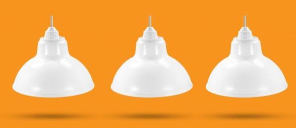 3 Bộ Chao đèn Chóa đèn nhựa trắng ngoài trời 20cm và đui E27 Kín nước
